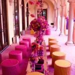 lounge laranja e rosa - mini casamento - decoração de casamento Curitiba