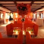 lounge laranja - mini casamento - decoração de casamento Curitiba