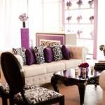 lounge preto branco e roxo - mini casamento - decoração de casamento Curitiba
