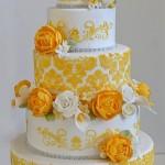 bolo de casamento amarelo curitiba - mini casamento curitiba - decoração de casamento Curitiba