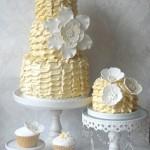 bolo em amarelo curitiba - mini casamento curitiba - decoração de casamento Curitiba