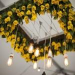 lustre com flores aplicadas curitiba - mini casamento curitiba - decoração de casamento Curitiba